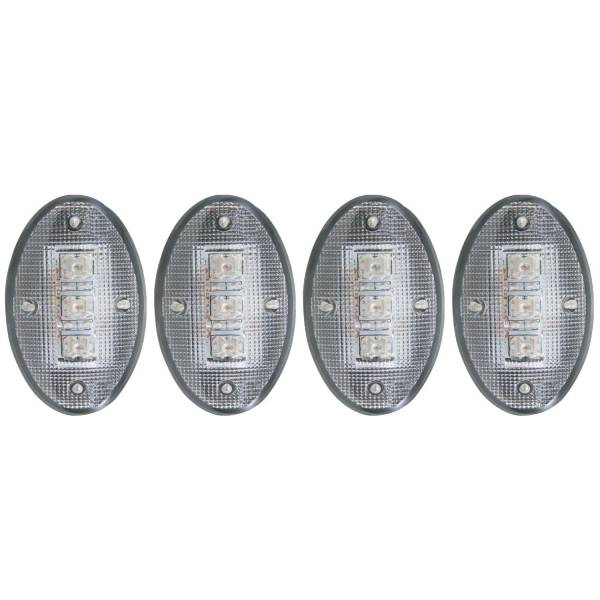 ANZO USA - ANZO USA LED Dually Fender Lights 99-10 Ford F-350, F-450 Clear - 861079