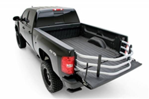 AMP Research - AMP BEDXTENDER HD SPORT - 1988-2007 GM, 1999-2018 FORD, 1994-2018 DODGE RAM, 2016-2018 NISSAN TITAN XD - SILVER