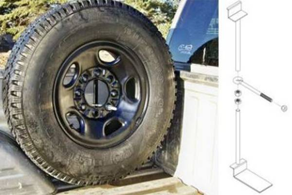 Titan Fuel Tanks - Titan Fuel Tank Spare Tire Mount KIT