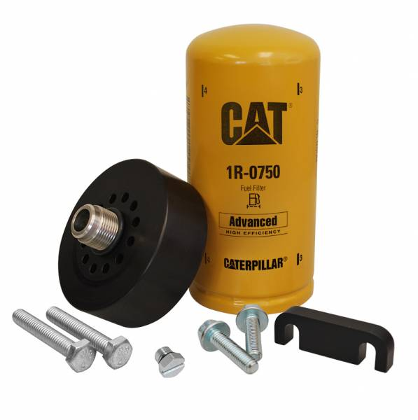 XDP Xtreme Diesel Performance - CAT Adapter with 1R-0750 Filter Bleeder Screw & Spacer 01-16 GM 6.6L Duramax XDP
