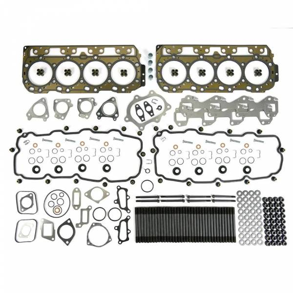 TrackTech Fasteners - TrackTech Complete Top-End Cylinder Head Gasket / Studs Service Kit for 01-04 LB7 Duramax