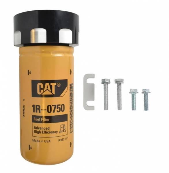 Norcal Diesel Performance Parts - Cat Fuel Filter Adapter Black For 01-16 LB7 LLY LBZ LMM LML Duramax