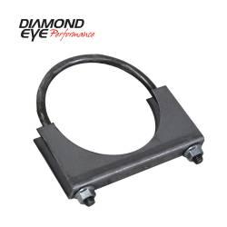 Exhaust - Exhaust Parts - Diamond Eye Performance - Diamond Eye Performance PERFORMANCE DIESEL EXHAUST PART-3.5in. STANDARD STEEL U-BOLT SADDLE CLAMP 444001