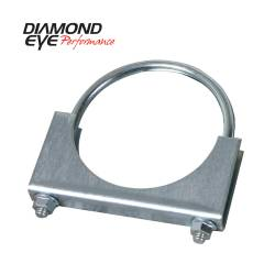 Exhaust - Exhaust Parts - Diamond Eye Performance - Diamond Eye Performance PERFORMANCE DIESEL EXHAUST PART-3.5in. ZINC COATED U-BOLT SADDLE CLAMP 454001