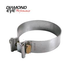 """Ford OBSExhaust Parts - Exhaust Parts - Diamond Eye Performance - Diamond Eye Performance, 3.5""""  TORCA BAND CLAMP - ALUMINIZED - BC350A"""