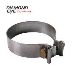 Exhaust - Exhaust Parts - Diamond Eye Performance - Diamond Eye Performance PERFORMANCE DIESEL EXHAUST PART-2.25in. 409 STAINLESS STEEL TORCA BAND CLAMP BC225S409