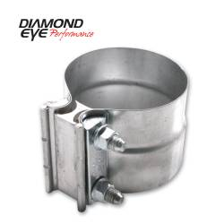 Exhaust - Exhaust Parts - Diamond Eye Performance - Diamond Eye Performance PERFORMANCE DIESEL EXHAUST PART-2.25in. ALUMINIZED TORCA LAP-JOINT CLAMP L22AA