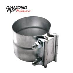 Exhaust - Exhaust Parts - Diamond Eye Performance - Diamond Eye Performance PERFORMANCE DIESEL EXHAUST PART-4in. 409 STAINLESS STEEL TORCA LAP-JOINT CLAMP L40SA