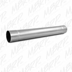 """Exhaust - Exhaust Parts - MBRP Exhaust - MBRP Exhaust Muffler Delete Pipe  4"""" Inlet /Outlet  30"""" Overall, AL MDA30"""
