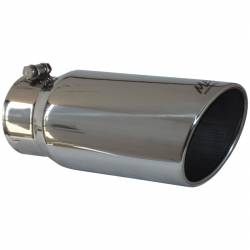 "Exhaust Tips & Stacks - 4.0"" Inlet Exhaust Tips - MBRP Exhaust - MBRP Exhaust Tip, 5"" O.D. Angled Rolled End  4"" inlet  12"" length, T304 T5051"