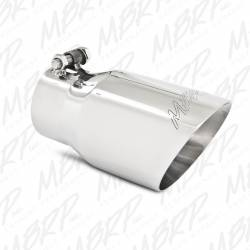 """Exhaust Tips & Stacks - 3.0"""" Inlet Exhaust Tips - MBRP Exhaust - MBRP Exhaust Tip, 4 O.D., Dual Wall Angled, 3 inlet, 8 length, T304, T5122"""
