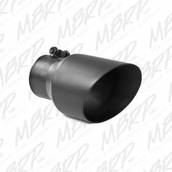 """Exhaust Tips & Stacks - 3.0"""" Inlet Exhaust Tips - MBRP Exhaust - MBRP Exhaust Tip, 4 1/2"""" O.D., Dual Wall Angled, 3"""" inlet, 8"""" length, Black, T5151BLK"""