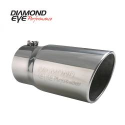 """Exhaust Tips & Stacks - 5.0"""" Inlet Exhaust Tips - Diamond Eye Performance - Diamond Eye Performance 5"""" INLET X 6"""" OUTLET X 12"""" LONG BOLT ON ROLLED ANGLE STAINLESS STEEL EXHAUST TIP 5612BRA-DE"""