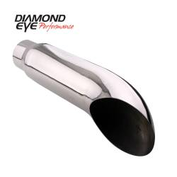 "Exhaust Tips & Stacks - 4.0"" Inlet Exhaust Tips - Diamond Eye Performance - Diamond Eye Performance TIP; TURN DOWN; 4in. ID X 5in. OD X 18in. LONG; 304 STA 4418TD"