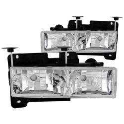 1982-2000 GM 6.2L & 6.5L Non-Duramax - GM 6.2L & 6.5L Lighting - ANZO USA - ANZO USA Crystal Headlight Set 111136