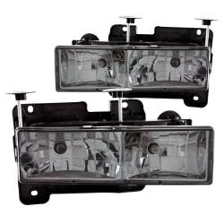1982-2000 GM 6.2L & 6.5L Non-Duramax - GM 6.2L & 6.5L Lighting - ANZO USA - ANZO USA Crystal Headlight Set 111061