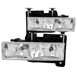 1982-2000 GM 6.2L & 6.5L Non-Duramax - GM 6.2L & 6.5L Lighting - ANZO USA - ANZO USA Crystal Headlight Set 111004