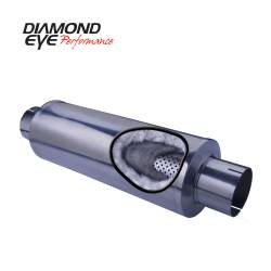 """Diamond Eye Performance - Diamond Eye Performance ,  5"""" PERFERATED HIGH FLOW- STRAIGHT THROUGH PERFORMANCE MUFFLER - 5""""x 5"""" x 30"""" - T409 STAINLESS STEEL - 460031"""