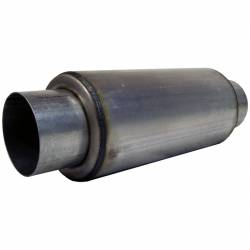 """Exhaust - Exhaust Parts - MBRP Exhaust - MBRP Exhaust Resonator  4"""" Inlet /Outlet  12"""" Body  18"""" Overall, T304 R1009"""