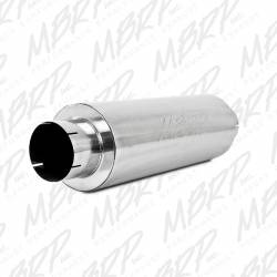 """Ford OBSExhaust Parts - Exhaust Parts - MBRP Exhaust - MBRP Exhaust Quiet Tone Muffler, 5"""" In/Out, 8"""" Dia. Body, 31"""" Overall, AL M2220A"""