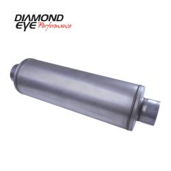 "Exhaust - Exhaust Parts - Diamond Eye Performance - Diamond Eye Performance 5"" ALUMINIZED LOUVERED HIGH FLOW- STRAIGHT THROUGH PERFORMANCE MUFFLER - 5"" I.D. X 5"" I.D. - 460100"