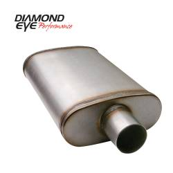 Exhaust - Mufflers - Diamond Eye Performance - Diamond Eye Performance PERFORMANCE DIESEL EXHAUST PART-3.5in. 409 STAINLESS STEEL PERFORMANCE PERFORATE 360011