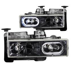 1982-2000 GM 6.2L & 6.5L Non-Duramax - GM 6.2L & 6.5L Lighting - ANZO USA - ANZO USA Crystal Headlight Set w/Halo 111005