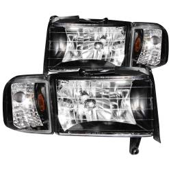 Lighting for 2nd Gen Dodge Ram 12V - Headlights & Marker Lights for 2nd Gen Dodge Ram 12V - ANZO USA - ANZO USA Crystal Headlight Set 111067
