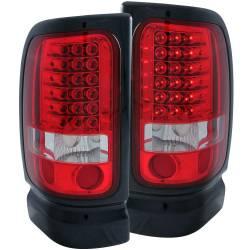 Lightingfor 2nd Gen Dodge Ram 12V - Brake & Tail Lightsfor 2nd Gen Dodge Ram 12V - ANZO USA - ANZO USA Tail Light Assembly 311052