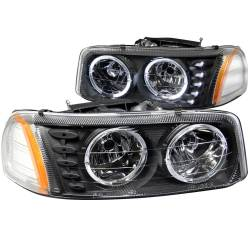 6.6L LMM Lighting - Headlights & Marker Lights - ANZO USA - ANZO USA Crystal Headlight Set w/Halo 111207
