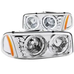 ANZO USA - ANZO USA Crystal Headlight Set w/Halo 111208