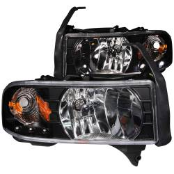 Lighting for 2nd Gen Dodge Ram 12V - Headlights & Marker Lights for 2nd Gen Dodge Ram 12V - ANZO USA - ANZO USA Crystal Headlight Set 111205