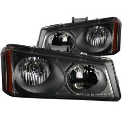 6.6L LMM Lighting - Headlights & Marker Lights - ANZO USA - ANZO USA Crystal Headlight Set 111009