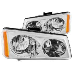 6.6L LMM Lighting - Headlights & Marker Lights - ANZO USA - ANZO USA Crystal Headlight Set 111010