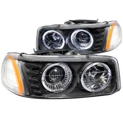 6.6L LLY Lighting - Headlights & Marker Lights - ANZO USA - ANZO USA Projector Headlight Set w/Halo 111192