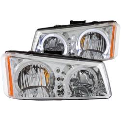 6.6L LMM Lighting - Headlights & Marker Lights - ANZO USA - ANZO USA Crystal Headlight Set w/Halo 111211