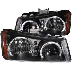 6.6L LMM Lighting - Headlights & Marker Lights - ANZO USA - ANZO USA Crystal Headlight Set w/Halo 111212