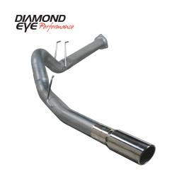 """Ford 6.7LExhaust Parts - Exhaust Systems - Diamond Eye Performance - Diamond Eye Performance 2011-2014 FORD 6.7L POWERSTROKE F250/F350 4"""" DPF BACK SINGLE 409 STAINLESS STEEL K4376S"""