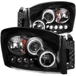 Dodge Ram 6.7L Lighting - Headlights & Marker Lights - ANZO USA - ANZO USA Projector Headlight Set w/Halo 111209