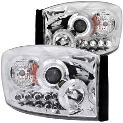 Dodge Ram 6.7L Lighting - Headlights & Marker Lights - ANZO USA - ANZO USA Projector Headlight Set w/Halo 111210