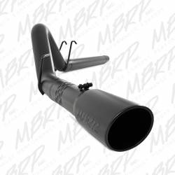 "Exhaust - Exhaust Systems - MBRP Exhaust - MBRP Exhaust 4"" Filter Back, Single Side Exit, Black Coated S6242BLK"