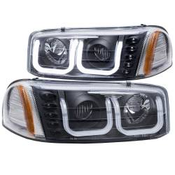 6.6L LMM Lighting - Headlights & Marker Lights - ANZO USA - ANZO USA Projector Headlight Set 111303