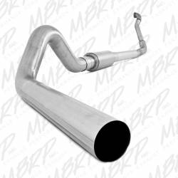 "Ford OBS Exhaust Parts - Exhaust Systems - MBRP Exhaust - MBRP Exhaust 4"" Turbo Back, Single Side Off-Road (Aluminized downpipe) S6218P"