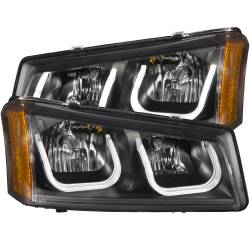 6.6L LMM Lighting - Headlights & Marker Lights - ANZO USA - ANZO USA Projector Headlight Set 111312