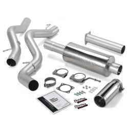 6.6L LLY/LBZ Exhaust Parts - Exhaust Systems - Banks Power - Banks Power Monster Exhaust System, Single Exit, Chrome Round Tip 48939