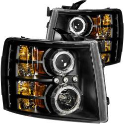 6.6L LMM Lighting - Headlights & Marker Lights - ANZO USA - ANZO USA Projector Headlight Set w/Halo 111200