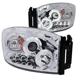 Lighting - Headlights & Marker Lights - ANZO USA - ANZO USA Projector Headlight Set w/Halo 111103
