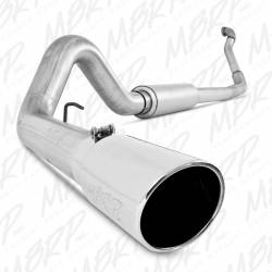 "Ford OBS Exhaust Parts - Exhaust Systems - MBRP Exhaust - MBRP Exhaust 4"" Turbo Back, Single Side Exit, Off-Road (Aluminized 3"" downpipe), AL S6218AL"