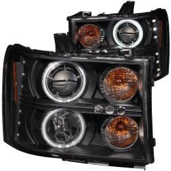 Lighting - Headlights & Marker Lights - ANZO USA - ANZO USA Projector Headlight Set w/Halo 111125