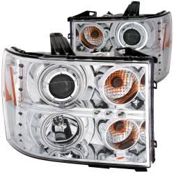 Lighting - Headlights & Marker Lights - ANZO USA - ANZO USA Projector Headlight Set w/Halo 111126